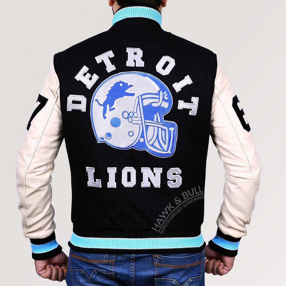 detroit lions jacket beverly hills cop back side