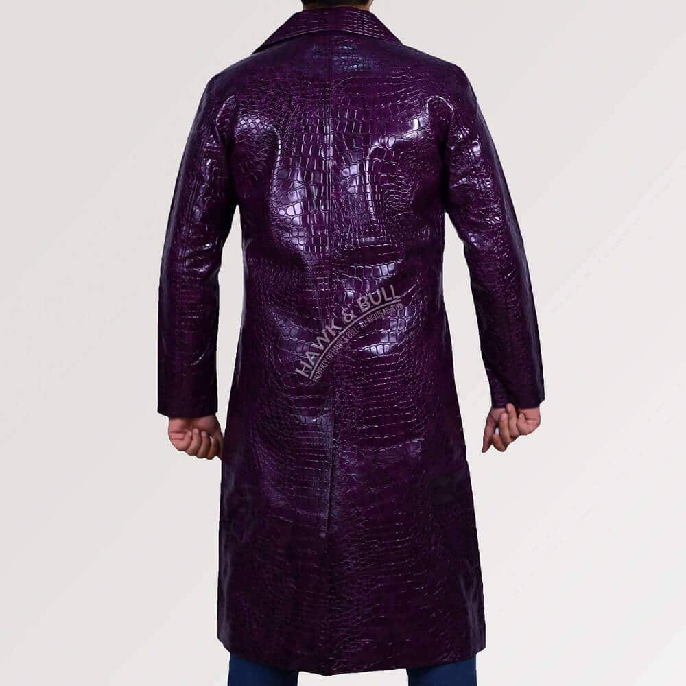 joker purple coat back side