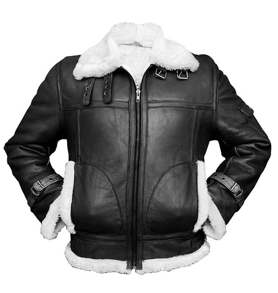 black and white bomber jacket front size