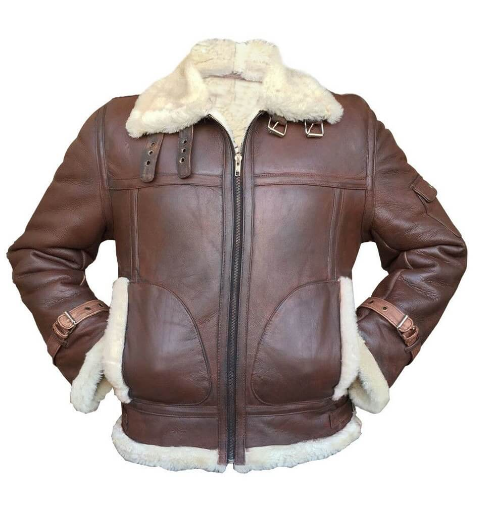 light brown bomber jacket front side