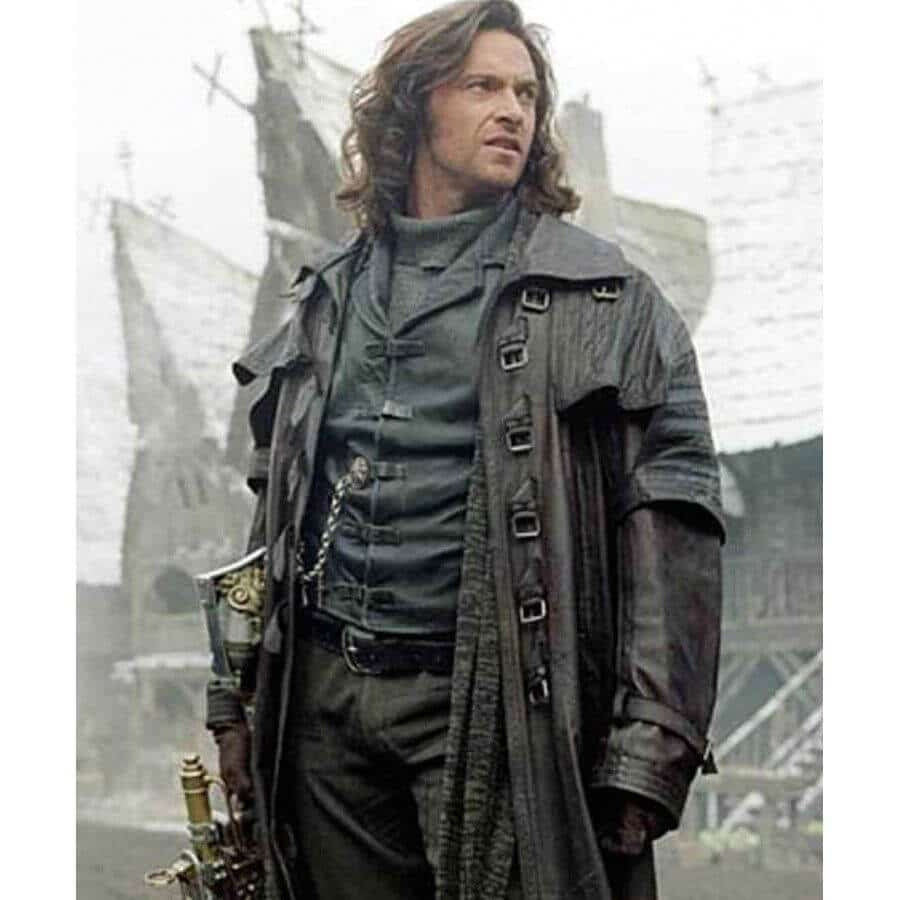 van helsing leather trench coat movie scene