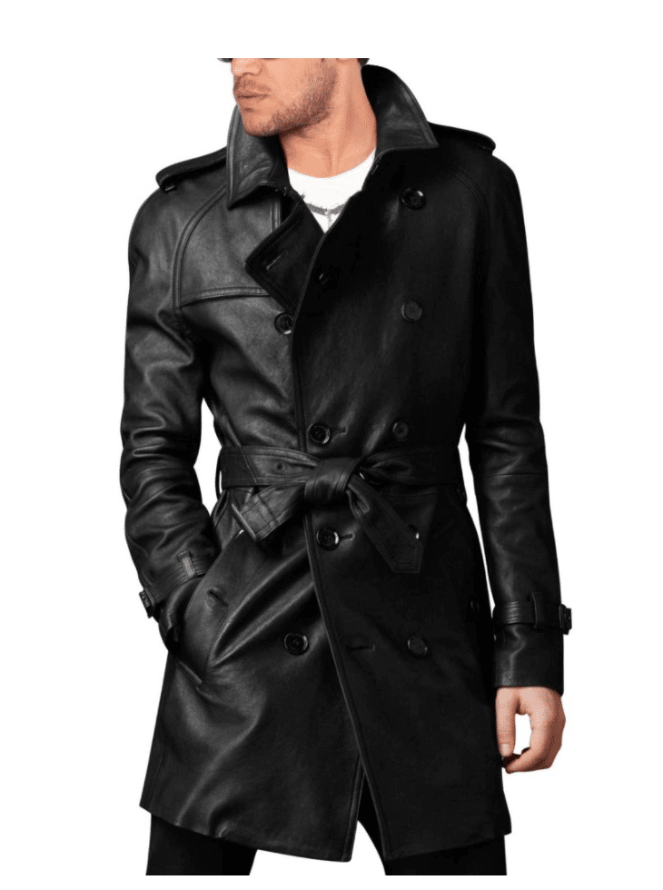 long belted coat front side