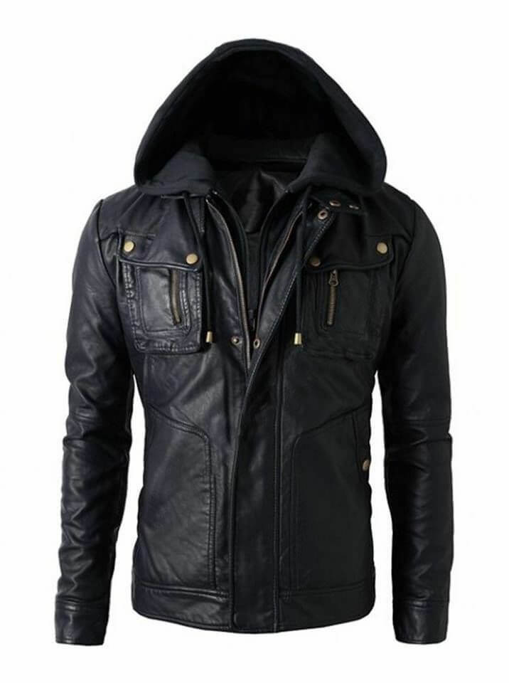 mens black hooded jacket front side.jpg