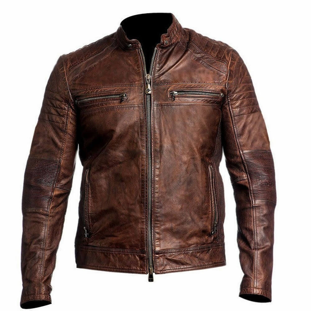 brown cafe racer jacket