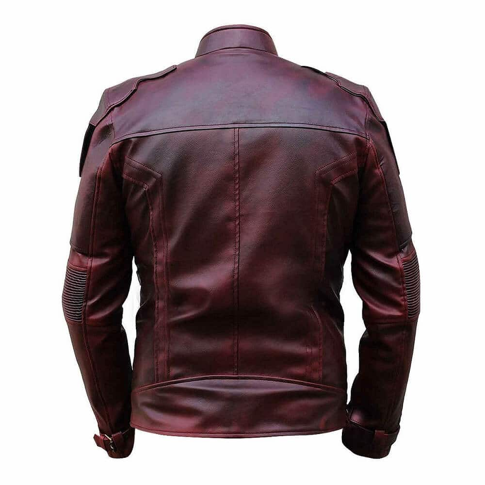 star lord leather jacket backside