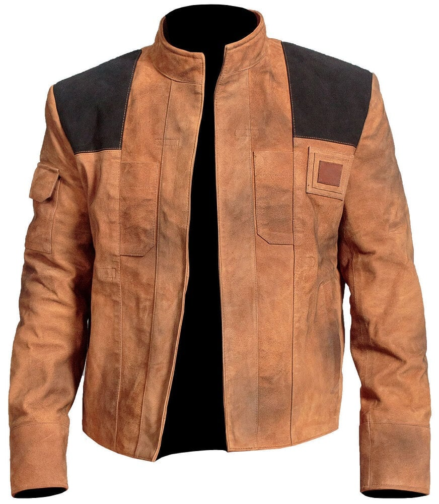 star wars han solo jacket front side