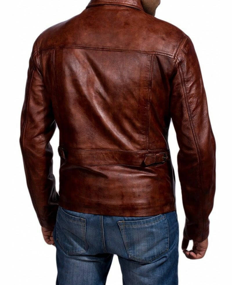 inception leather jacket backside