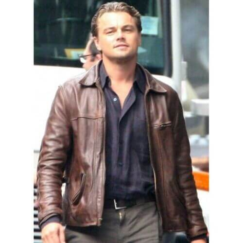 inception leather jacket movie scene