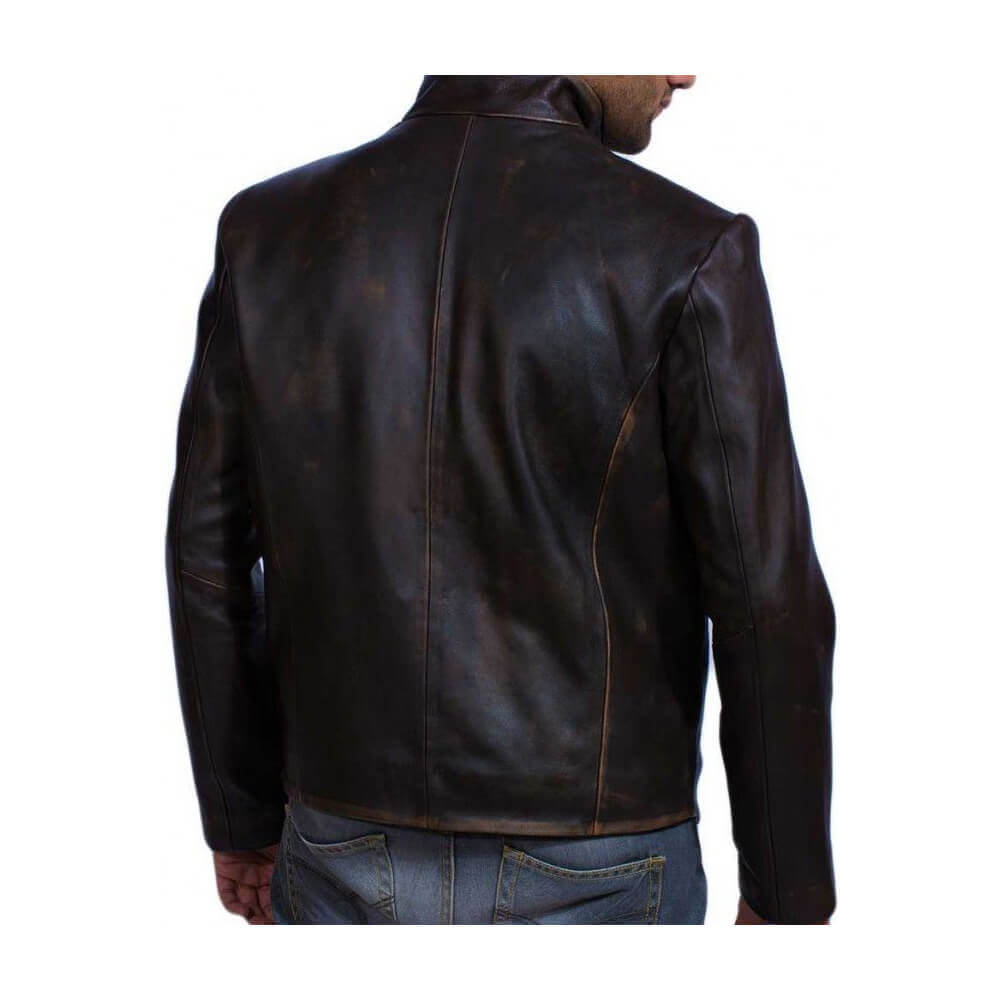 da vinci leather jacket back side
