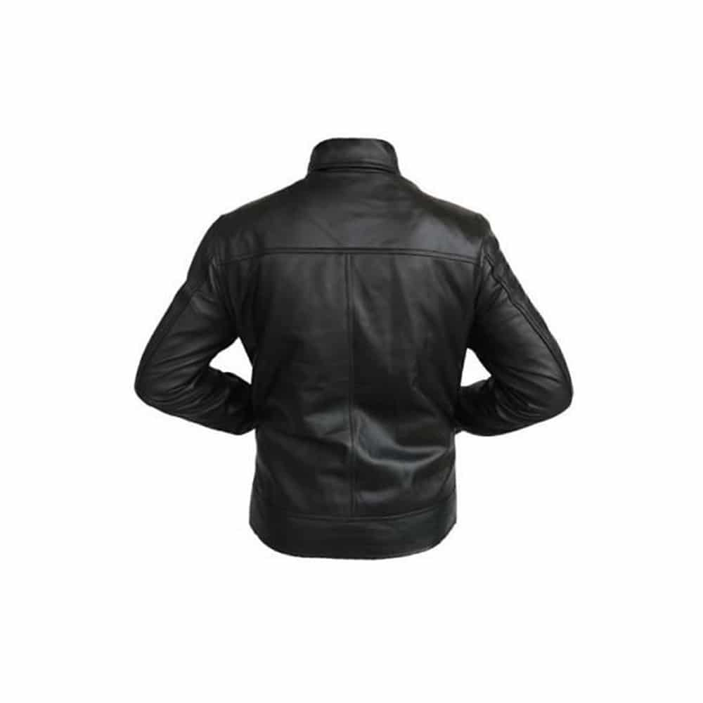 hank moody leather jacket back side
